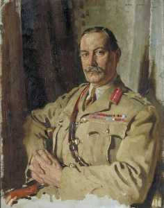 William Newenham Montague Orpen - Teniente General Señor Atravesar Clarke , KCMG , CB , Oficial de intendencia General , Francia , Diciembre 1917