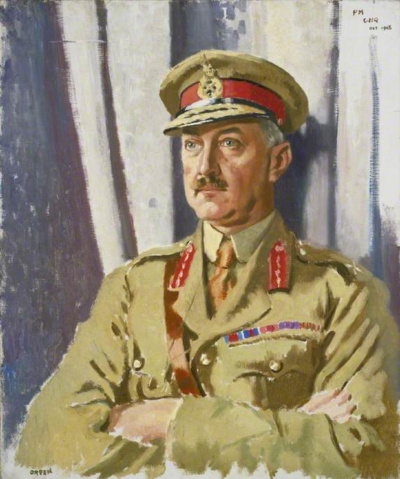 Brigadier General Guillermo Thomas Francisco Horwood ( 1868–1943 ) , DSO , Tardío Alcade Mariscal , General Sede , Británico Expedicionario Fuerza, óleo sobre lienzo de William Newenham Montague Orpen (1878-1931, Ireland)