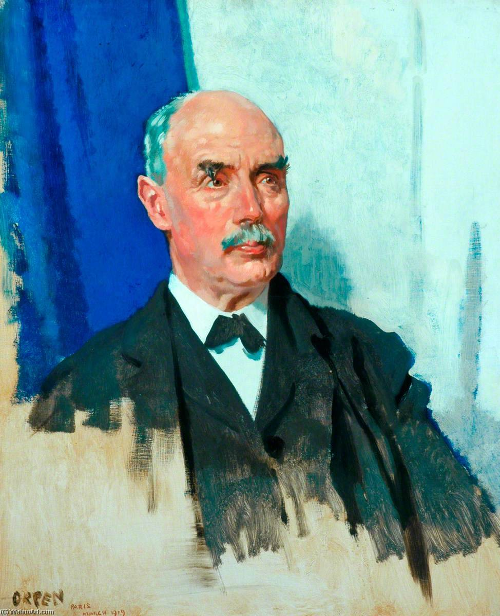 el derecho Honorable Gramo . Norte . Barnes , ORDENADOR PERSONAL, óleo sobre lienzo de William Newenham Montague Orpen (1878-1931, Ireland)