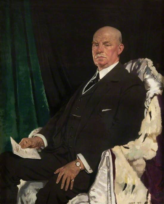 Señor thomas paxton ( 1860–1930 ) , lord provost de glasgow ( 1920–1923 ), 1923 de William Newenham Montague Orpen (1878-1931, Ireland) | WahooArt.com