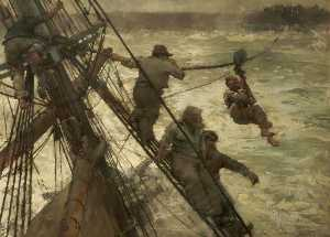 Frank William Brangwyn - El rescate