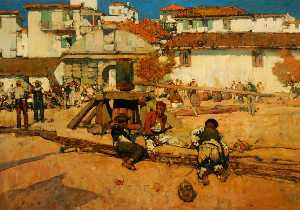 Frank William Brangwyn - Pescadores a Funchal , Maderia , Portugal