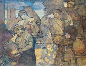 Frank William Brangwyn - el alfareros