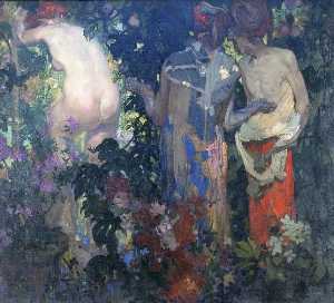Frank William Brangwyn - Susana y los viejos