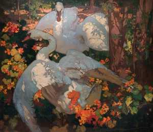 Frank William Brangwyn - el cisnes