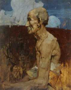 Frank William Brangwyn - anciano a  Asís