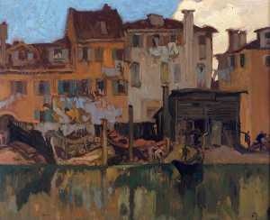Frank William Brangwyn - el Tugurios  todaclasede  venecia