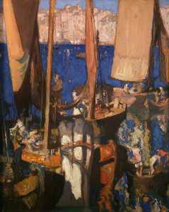 Frank William Brangwyn - veneciano Barcos