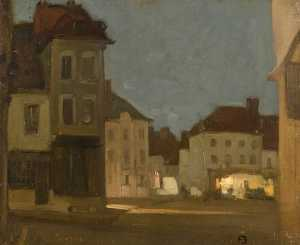 Frank William Brangwyn - el market place , Hesdin