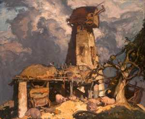 Frank William Brangwyn - Un Kent  molino