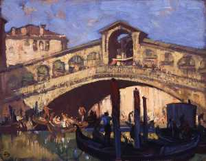Frank William Brangwyn - El Rialto venecia