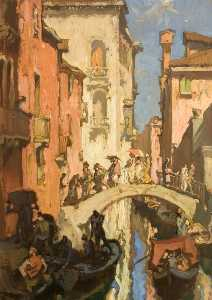Frank William Brangwyn - Un Venecia Canal