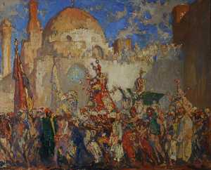 Frank William Brangwyn - Oriental nupcial  comitiva