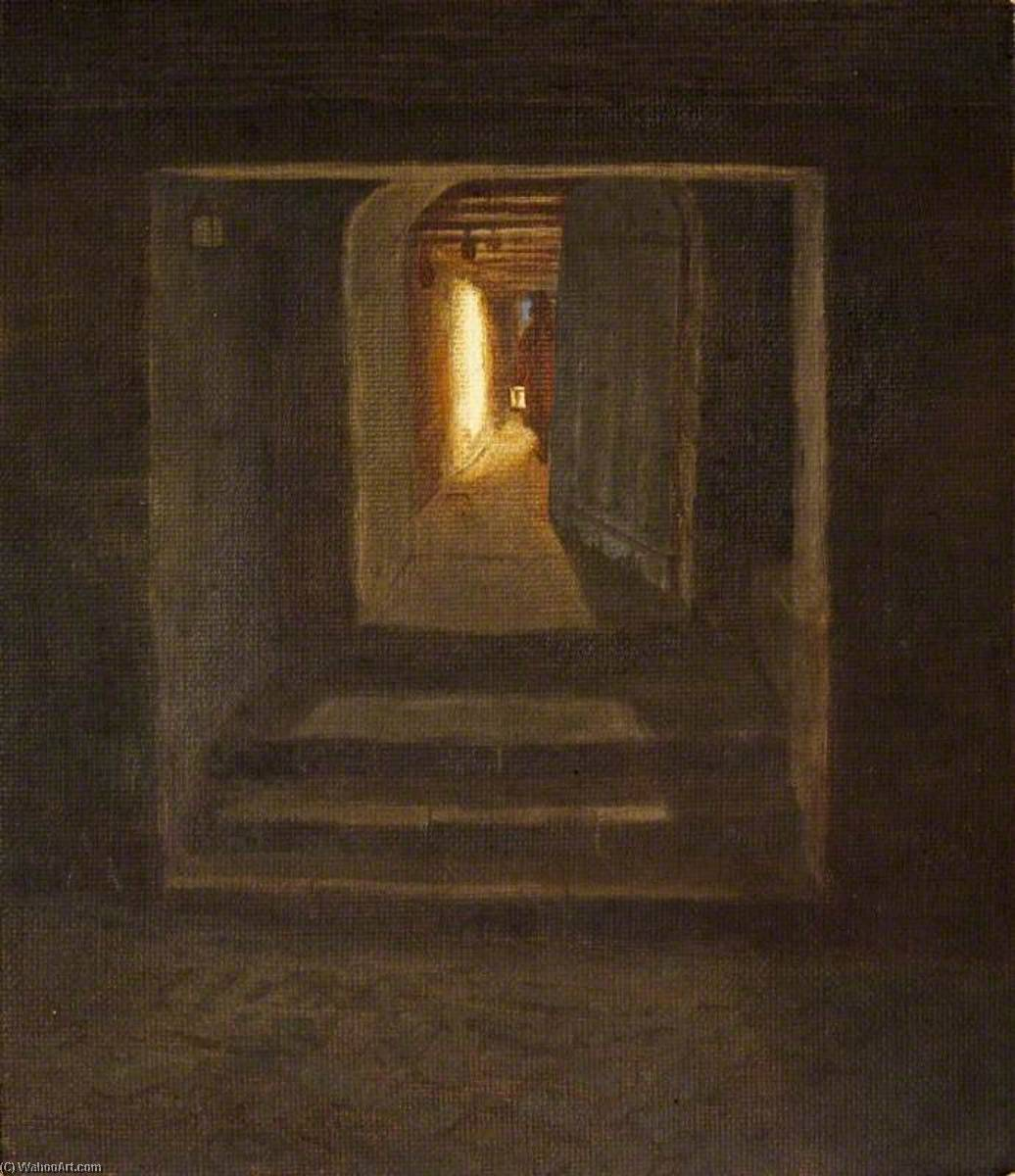 Un Nocturno El interior , st kitts, aceite de Charles Paget Wade (1883-1956, United Kingdom)