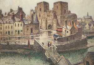 William Hoggatt - castillo de rushen de  el  puente  Casa