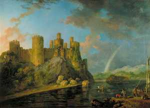 George Barret The Elder - Castillo de Conway