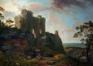 George Barret The Elder - Beeston Castillo , Cheshire