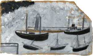 Alfred Wallis - buques in puerto
