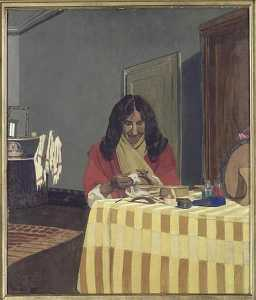 Felix Vallotton - RETRATO DE MME VALLOTTON