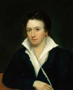 Alfred Clint - percy bysshe shelley ( copia después de una original de 1918 de amelia curran asícomo Eduardo ellerker williams )