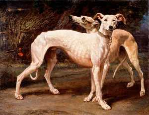 Louis Godefroy Jadin - dos galgos