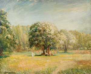 William Brown Macdougall - flor tiempo , Epping Bosque , Essex