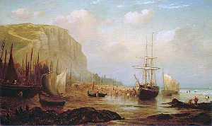 William Henry Borrow - east cliff , Hastings , east sussex , y pesca Buques