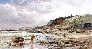 William Henry Borrow - bajo marea , Hastings , east sussex