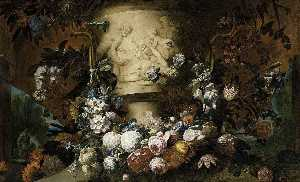 Gaspar Peeter The Younger Verbruggen - Guirnalda de flores