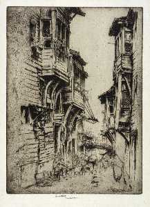 Ernest D Roth - Calle Galata , Constantinopla