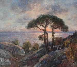 Thorolf Holmboe - medianoche sol , Nordland