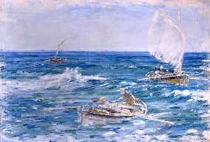 William Mctaggart - langosta Pescadores  machista  Bahía