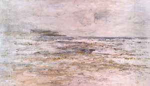 William Mctaggart - Niebla y la lluvia , Macrihanish