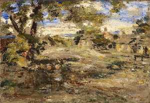 William Mctaggart - paisaje bosquejo , Howgate