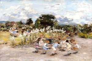 William Mctaggart - los lirios