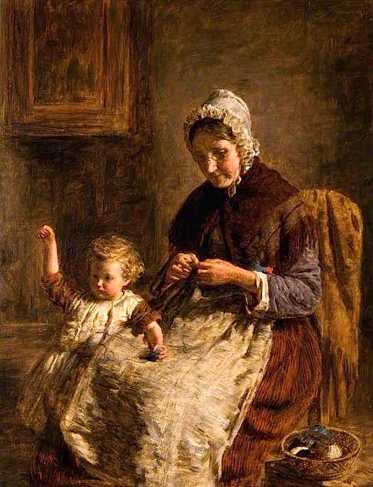 Pedir Reproducciones De Bellas Artes | Grandmother`s Mascota, 1864 de William Mctaggart (1835-1910, United Kingdom) | WahooArt.com