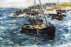 William Mctaggart - Un oleaje ground , Carradale , Argyll
