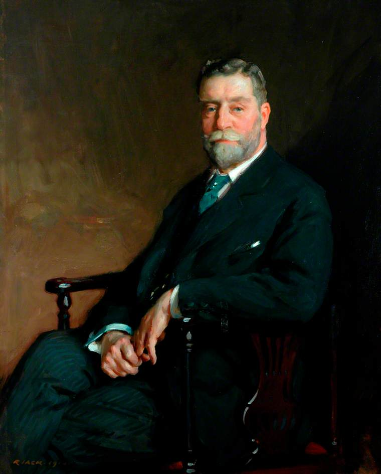 Señor John Do . Horsfall , Bt , presidente del consejo del condado de west riding de yorkshire ( 1910–1916 ), óleo sobre lienzo de Richard Jack (1866-1952, United Kingdom)