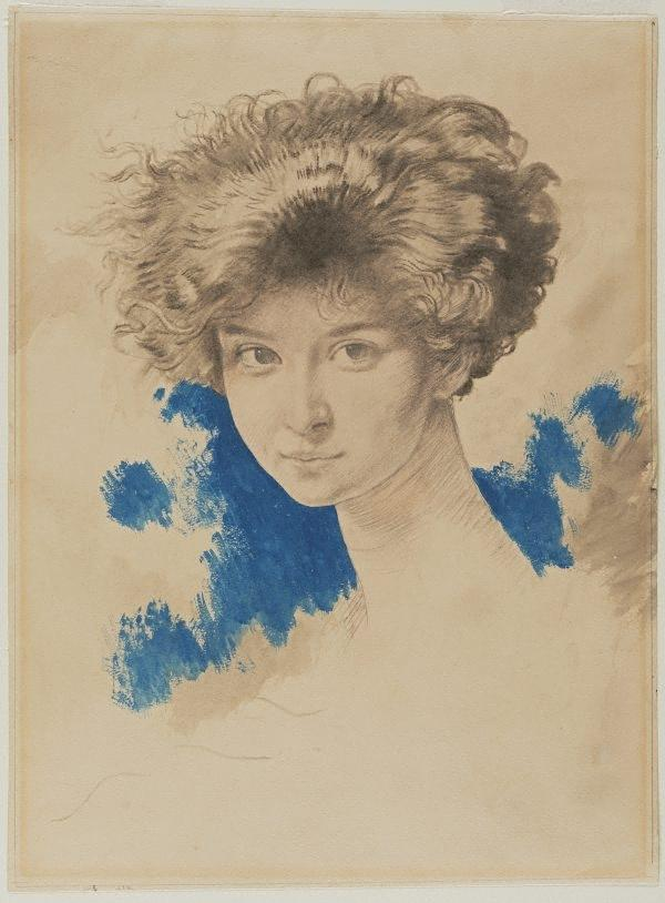 lady evelyn beauchamp, dibujo de William Newenham Montague Orpen (1878-1931, Ireland)