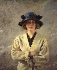 William Newenham Montague Orpen - chica en un blanco vestido