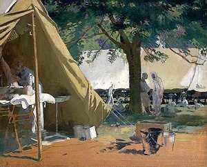 William Newenham Montague Orpen - enfermo alemán , capturado en messines , en un hospital canadiense