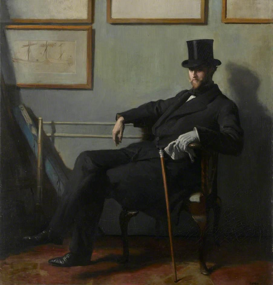 herbert barnard john everett, óleo sobre lienzo de William Newenham Montague Orpen (1878-1931, Ireland)