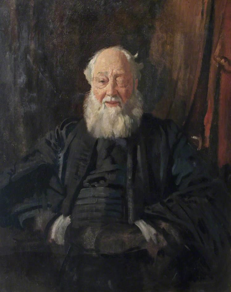 El Dr Mayordomo  cómo  batas , óleo sobre lienzo de William Newenham Montague Orpen (1878-1931, Ireland)