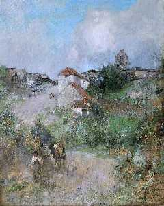 Edward Arthur Walton - El Gypsies' Aldea , Suffolk