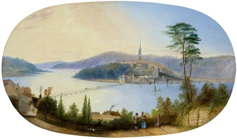 Vista de Londonderry, 1848 de Jennens Bettridge | Reproducciones De Pinturas Jennens Bettridge | WahooArt.com