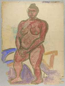William Henry Johnson - de pie desnudo femenino