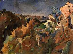William Henry Johnson - larga vista de st . Ana , cagnes sur mer