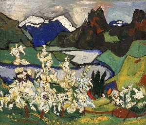 William Henry Johnson - flores de apple , Norheimsund , Hardanger