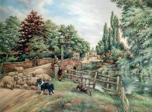 William Samuel Wright - old olney Puente , Buckinghamshire