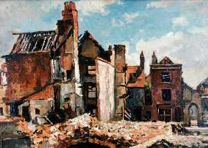 Edward Robert King - Ruinas de San Thomas' Calle , Portsmouth